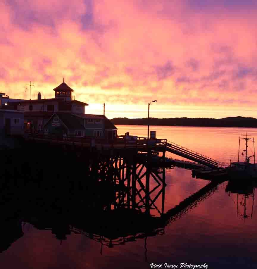 A Prince Rupert, BC Canada Harbour Sunset.