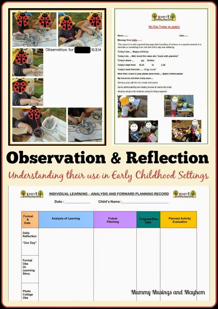 Reflective diary working in childcare
