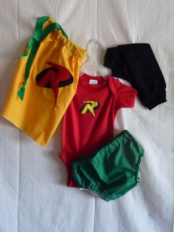 Robin Costume Babies Infants Toddlers Superhero by SedonaStyle $44.00 : baby robin costume  - Germanpascual.Com
