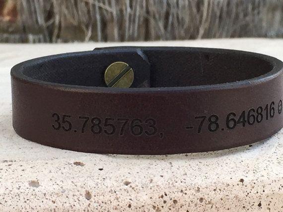 Free Shipping Personalized Leather Bracelet Men Wrist Band Custom