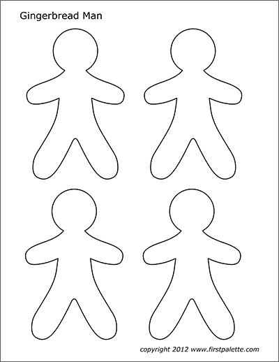 Gingerbread Man | Free Printable Templates & Coloring ...
