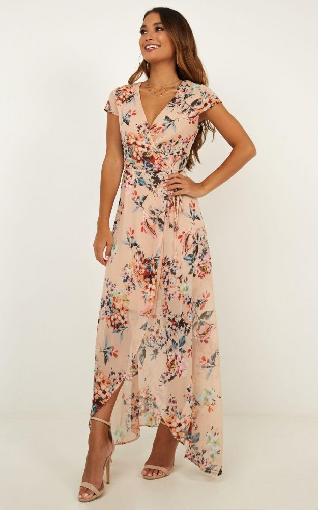 Wrap And Cross Maxi Dress In Blush Floral Produced By SHOWPO -   17 dress Wrap crosses ideas