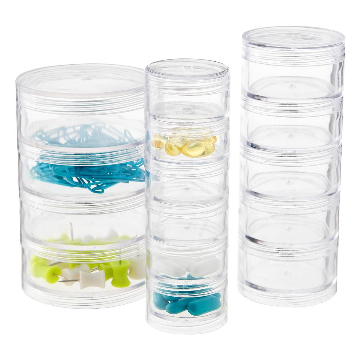 Clear Multi Section Stackable Organizers