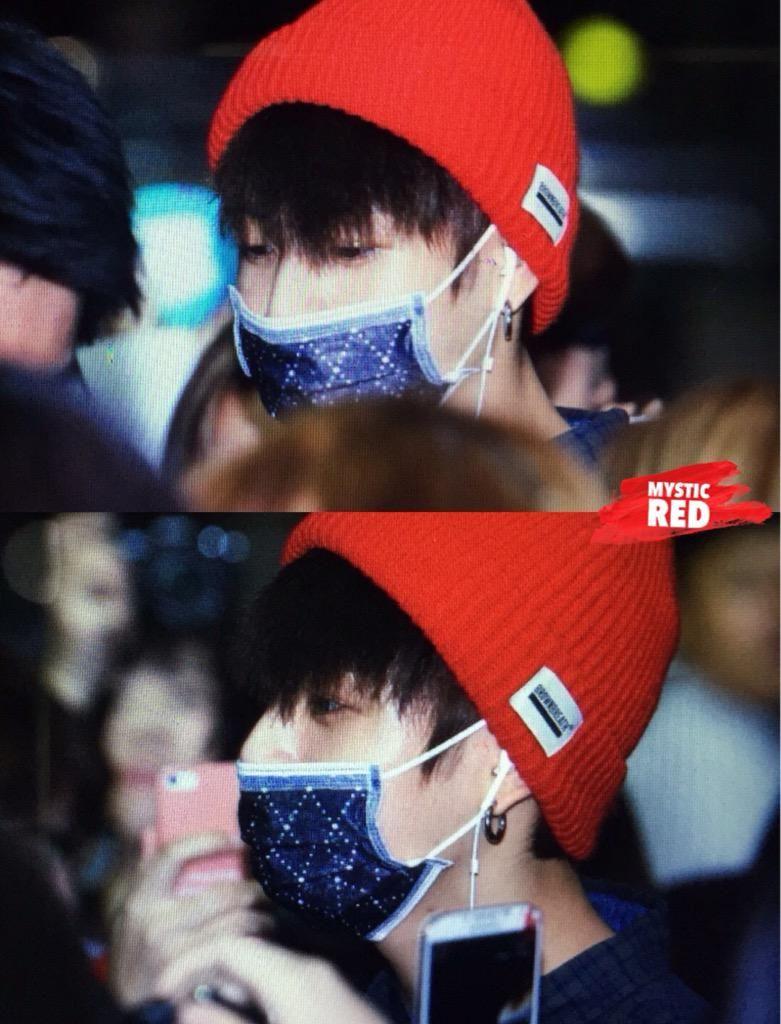 Kookie wearing face mask and a beanie!!! Kill me!  345edb8231b