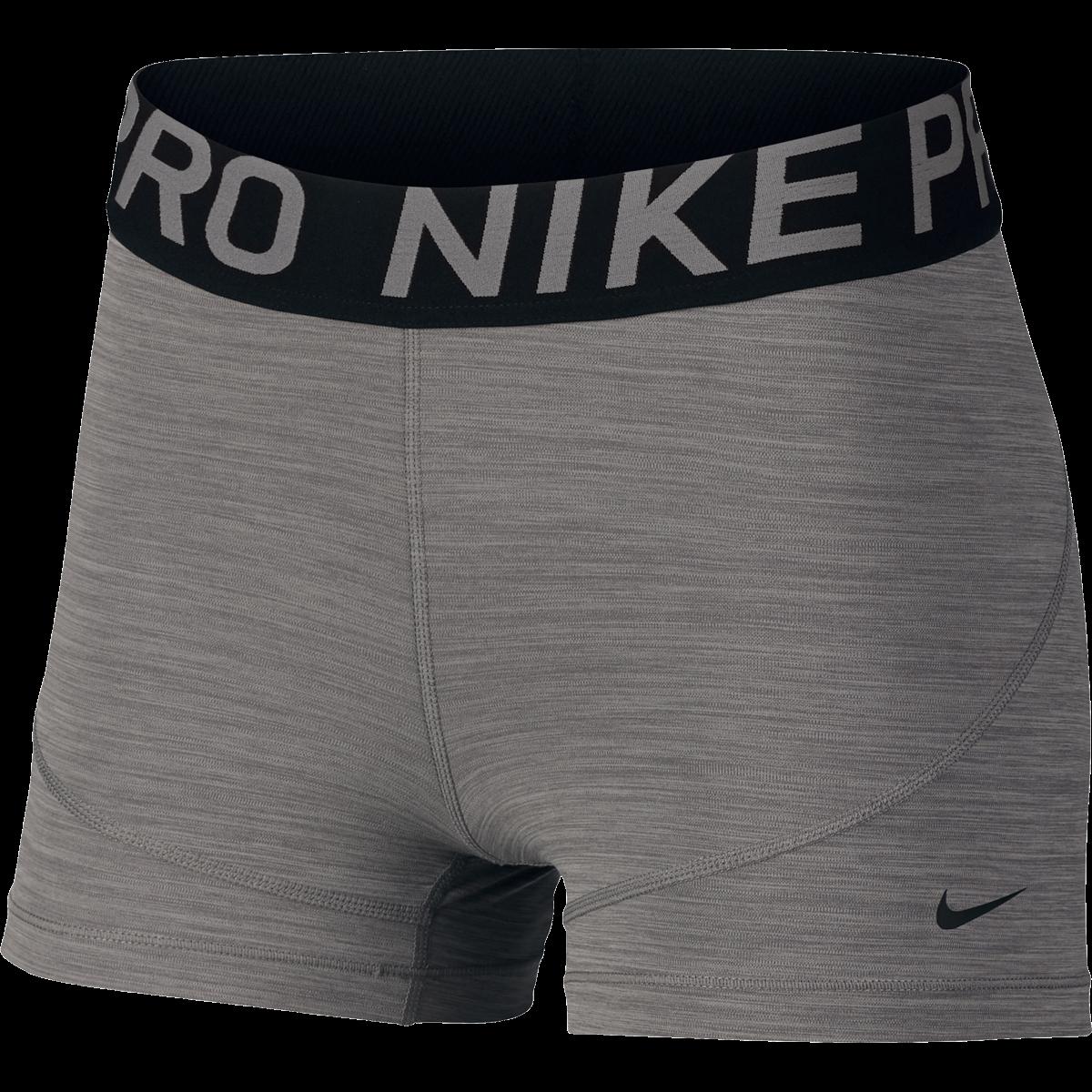 "Women/'s Nike Pro 3/"" Inch DRI-FIT Waistband Training Running Compression Shorts"