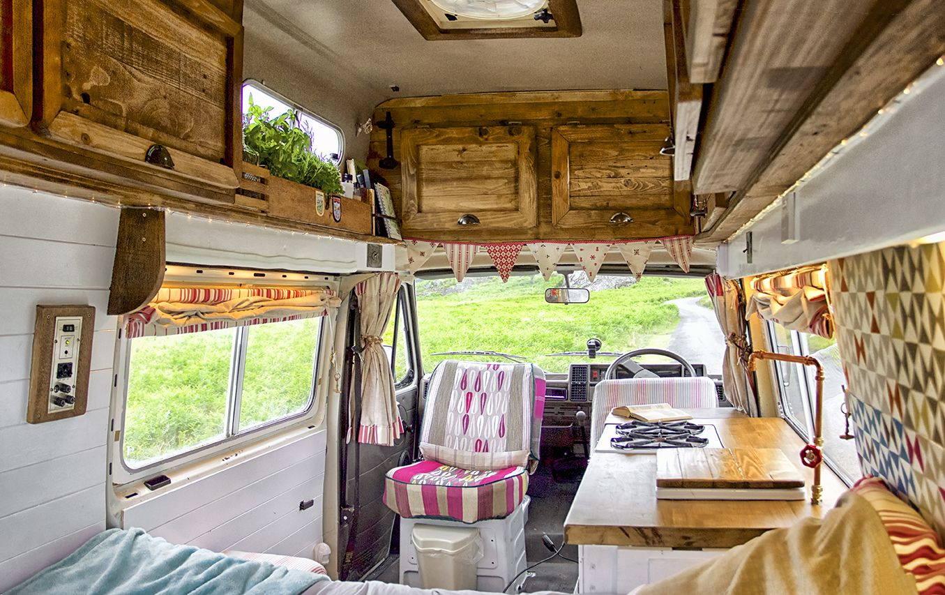 A Wide Angle Shot Of Florence Our Handmade Custom Interior Refit  # Muebles Fiat Ducato