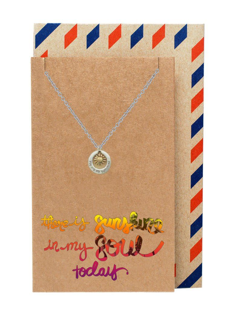 Liv You Are My Sunshine Necklace Engraved Gifts Jewelry Greeting