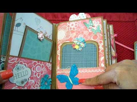 14313e3fdf27 6x6 mini flip flap album with pockets (finished project) - YouTube ...