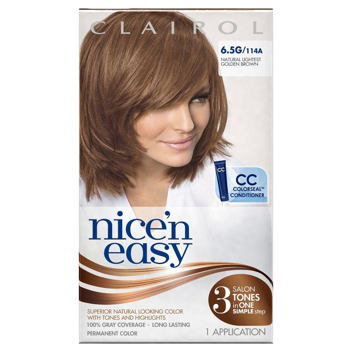 Light reddish brown hair dye