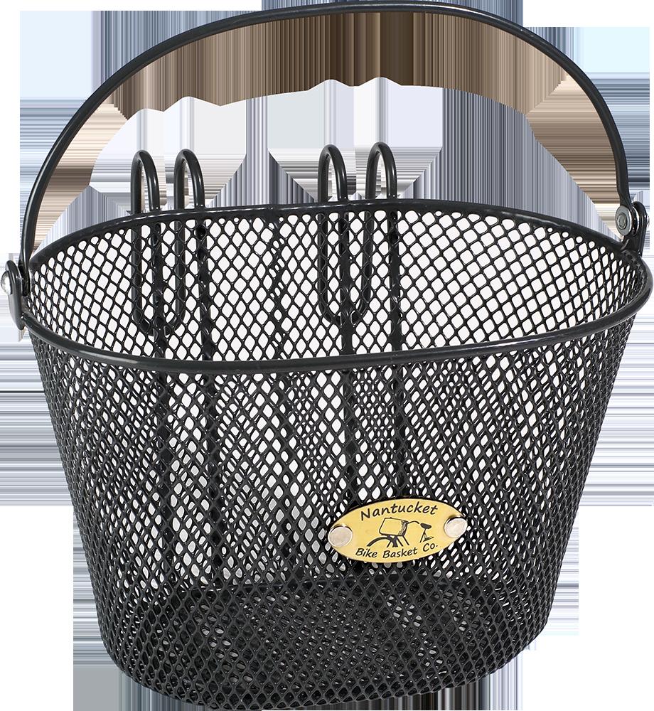 Surfside Child Mesh Wire Basket in Charcoal - Nantucket Bike Basket Co. - $17.00 - domino.com