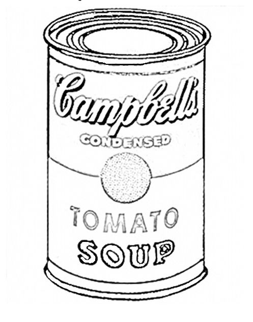 art lesson andy warhol coloring page