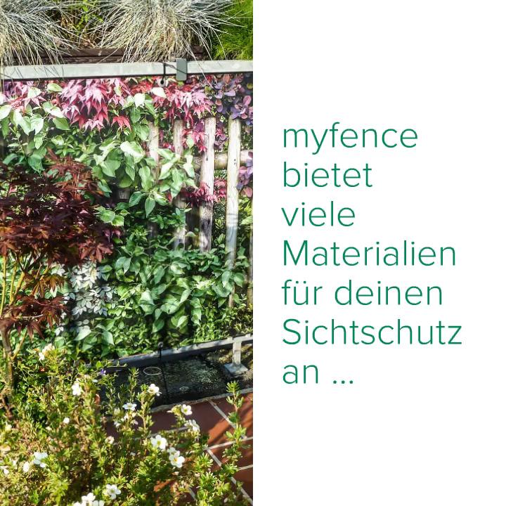 myfence – Materialien für deinen Sichtschutz #sichtschutzfürbalkon