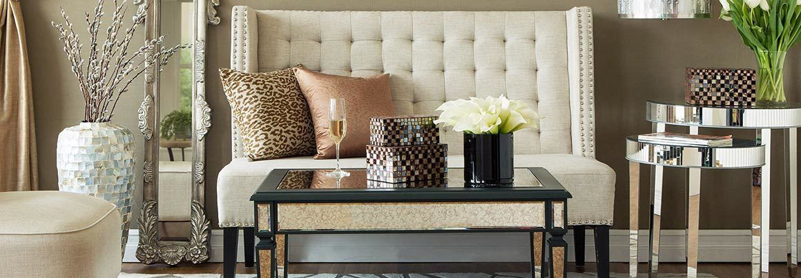 The Glam Penthouse Mirrored Furniture Tufts And Studs
