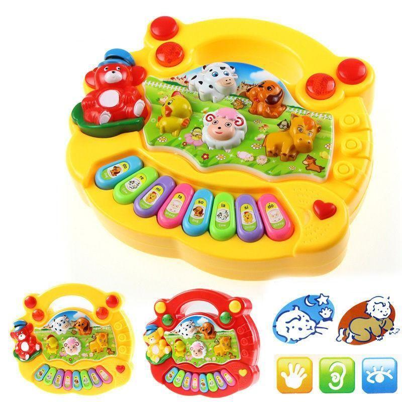 Musical Educational Animal Farm Piano Developmental Music Toys for Baby Kid HOT