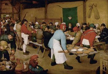 Artista: Pieter Bruegel el Viejo.  alrededor de 1525-1530 Breda? - 1569 Bruselas Pintura: Boda campesina 1568