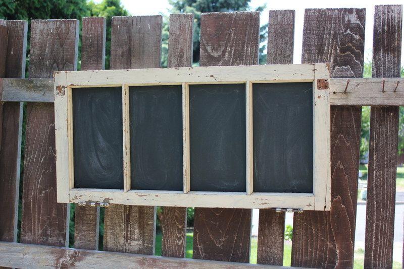 Vintage Window Chalkboard