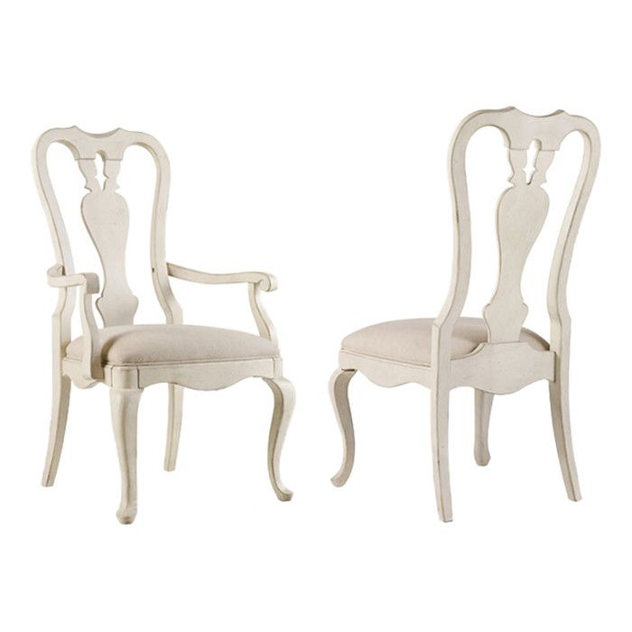white queen anne chair
