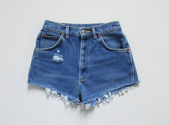 vintage lee denim cutoff shorts / xs - s
