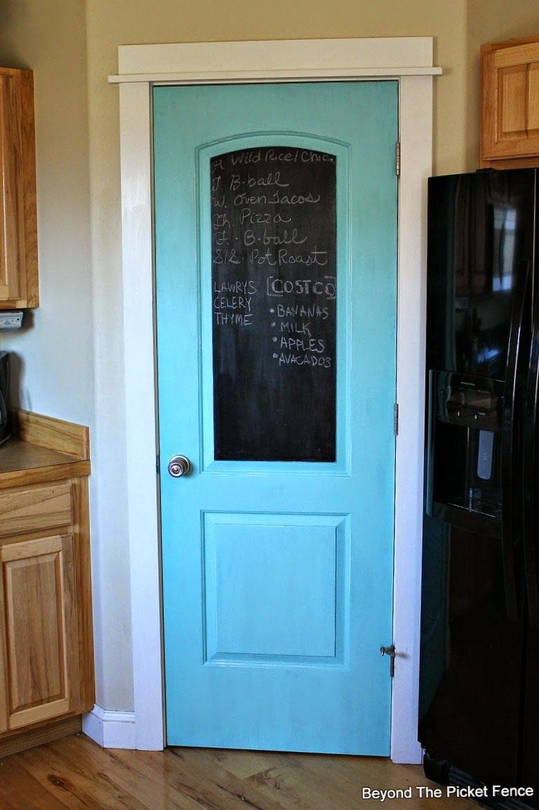 Kitchen Pantry Door, Chalkboard Paint http://bec4 ...