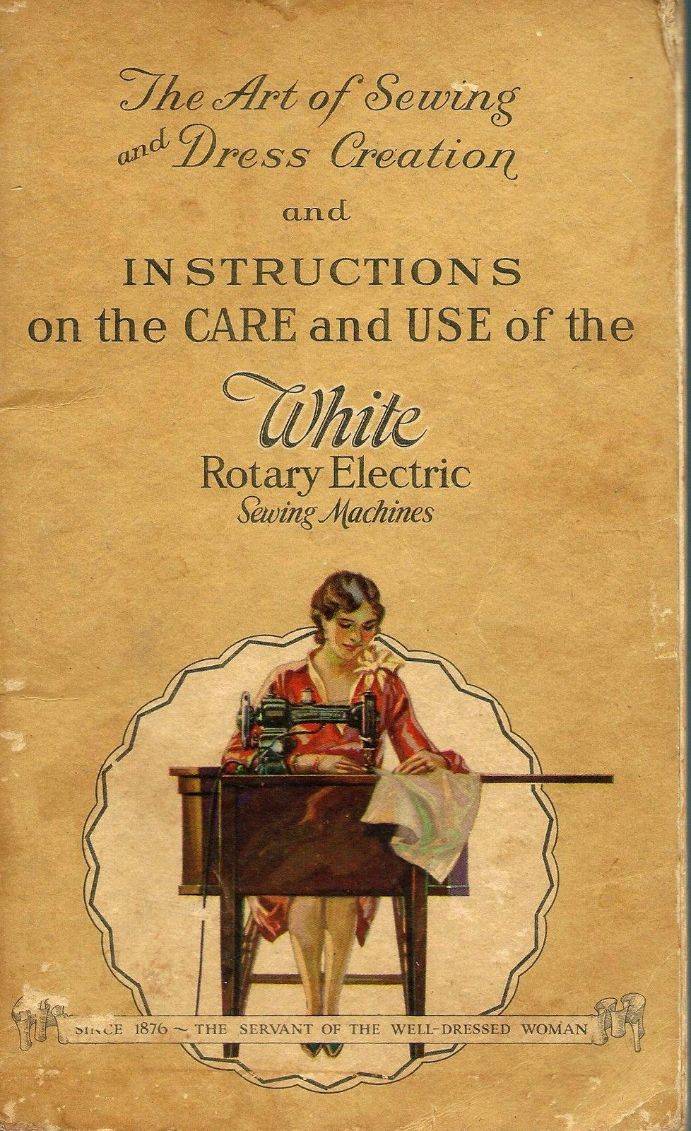 the art of sewing with the white rotary electric sewing machine 1928 edition ebay [ 978 x 1600 Pixel ]