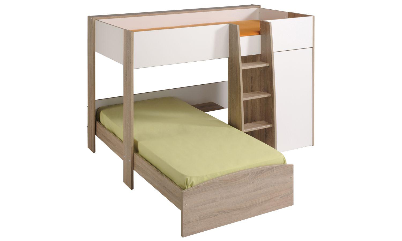 Letto A Castello Triplo Flexa : Magellan l shaped bunk bed girls bedroom