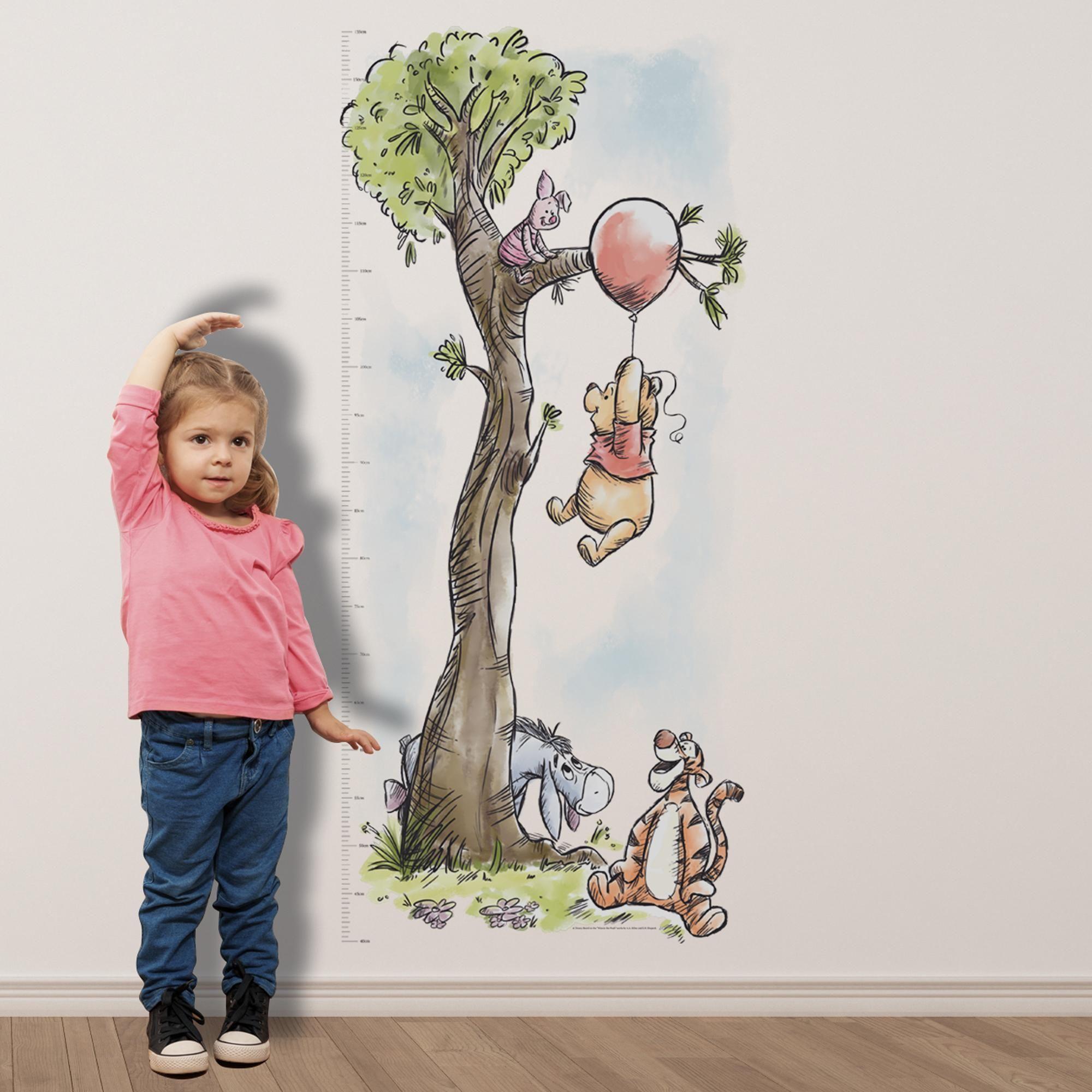 Disney Winnie The Pooh Height Chart Sticker Vintage Winnie The Pooh Winnie The Pooh Themes Winnie The Pooh Nursery