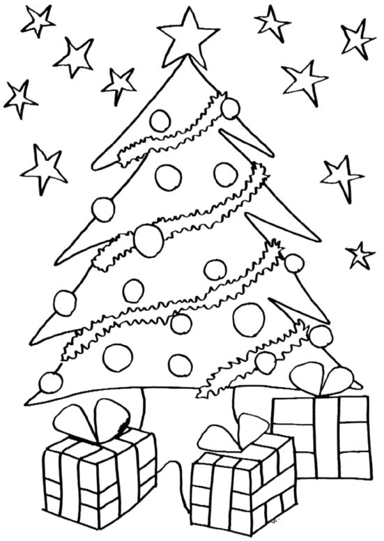 Christmas Tree Coloring Quotes Images