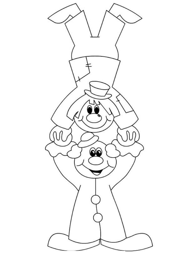 Karnival Zirkus Clowns Vorlage Schablone Akrobat Clown Basteln Clown Basteln Vorlage Fasching Basteln