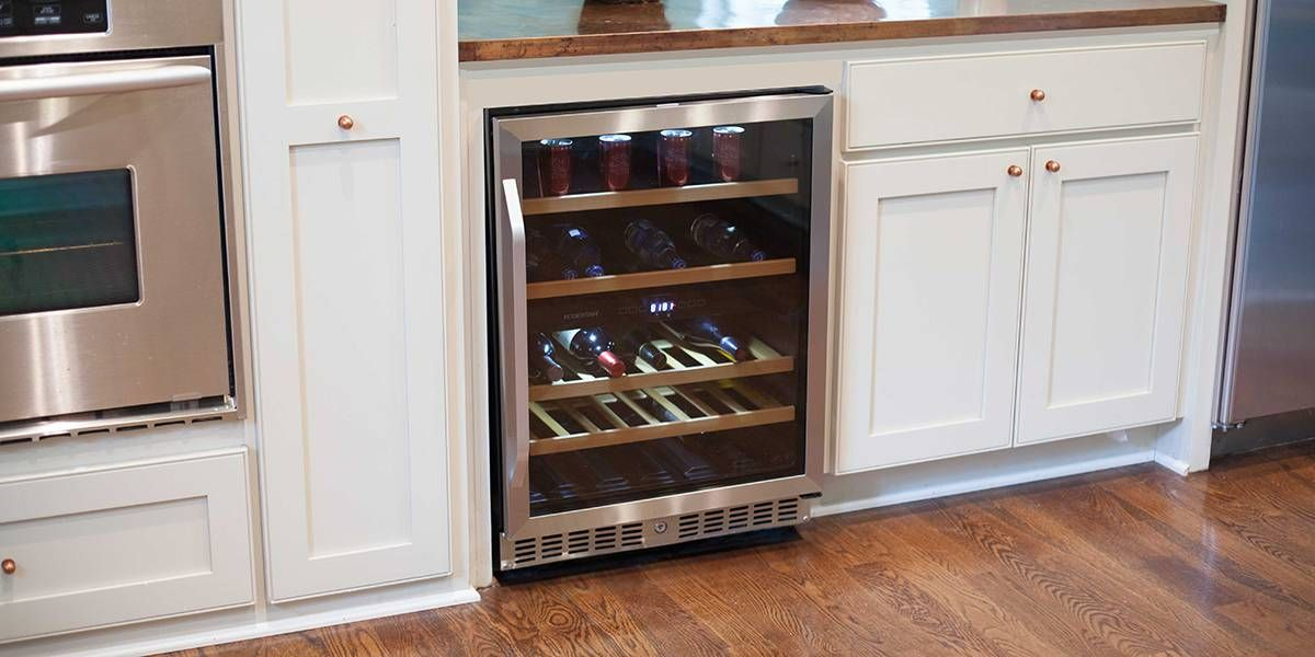 Edgestar Cwb8420dz Stainless Steel 24 Inch Wide Wine And Beverage Cooler With Dual Zone Operation Winecoolerdirect Com Wine Coolers Drinks Beverage Cooler Cooler