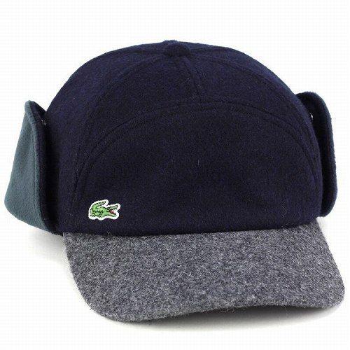 45c1d850146  楽天市場 LACOSTE 耳あて付 キャップ メンズ 秋冬 ウィンターキャップ ラコステ 帽子 レディース