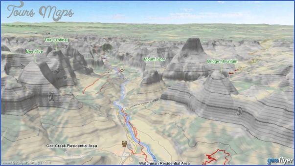 cool ZION NATIONAL PARK USA MAP Tours Maps Pinterest