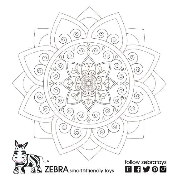Growth Mandala-Printable Art-Geometric Digital by zebratoys ...