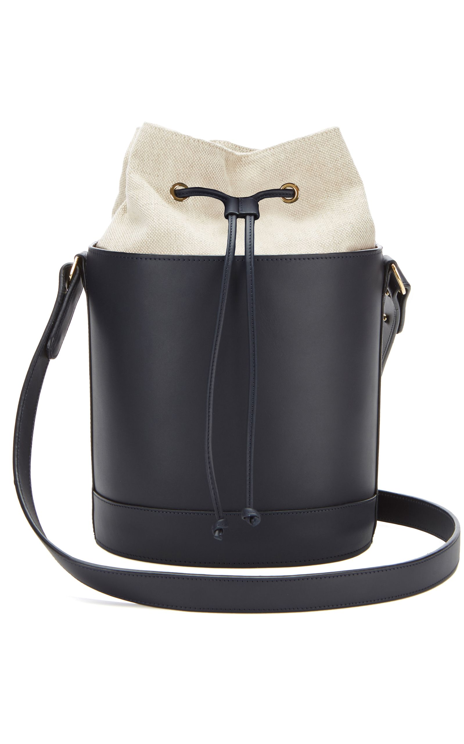 43a94758f4 MONTUNAS M'ONOGRAMMABLE LEATHER BUCKET BAG WITH GOLD. #montunas #bags  #leather #bucket #
