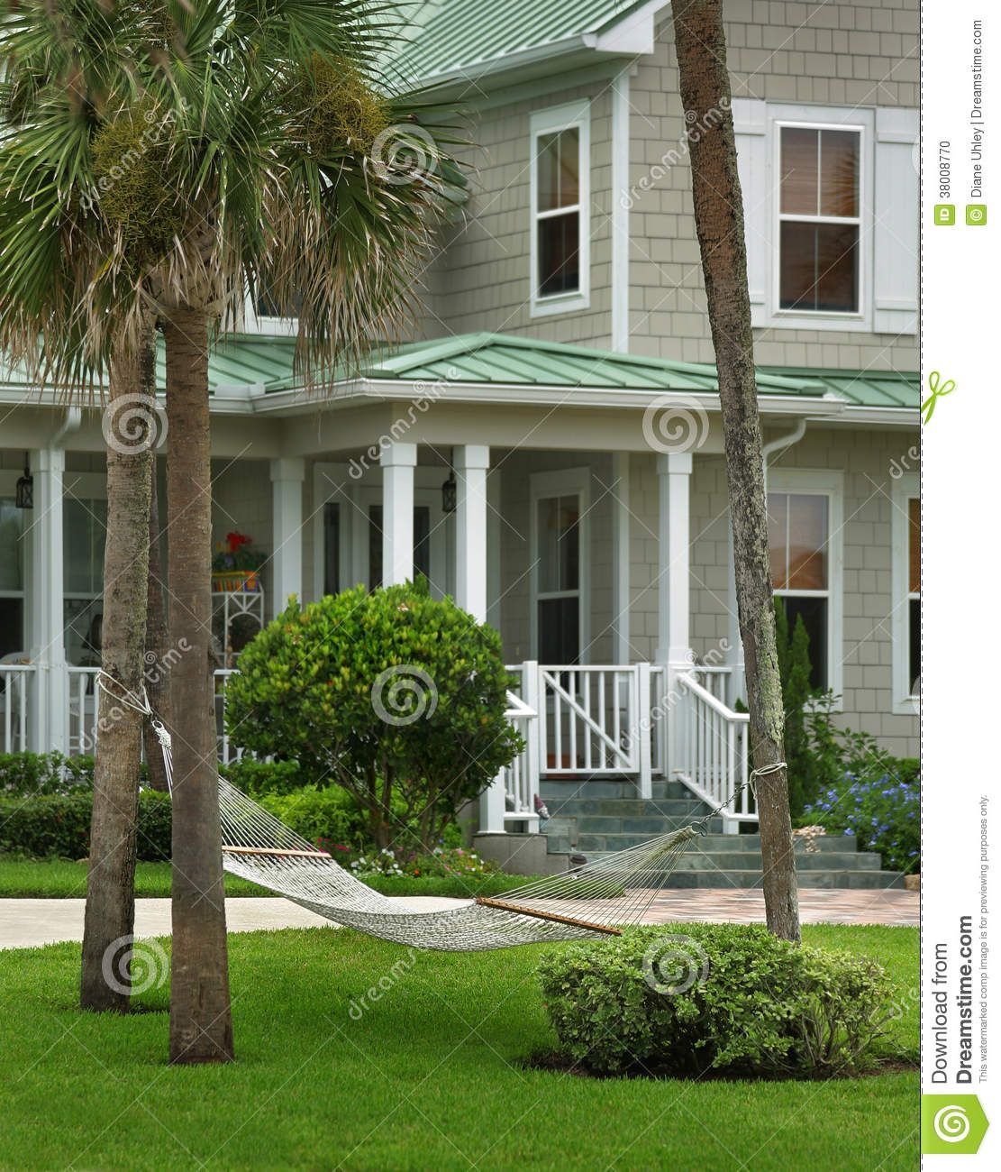 Grey House With Green Roof Stock Photo Image 38008770 Green Roof House Metal Roof Houses Exterior Paint Colors For House