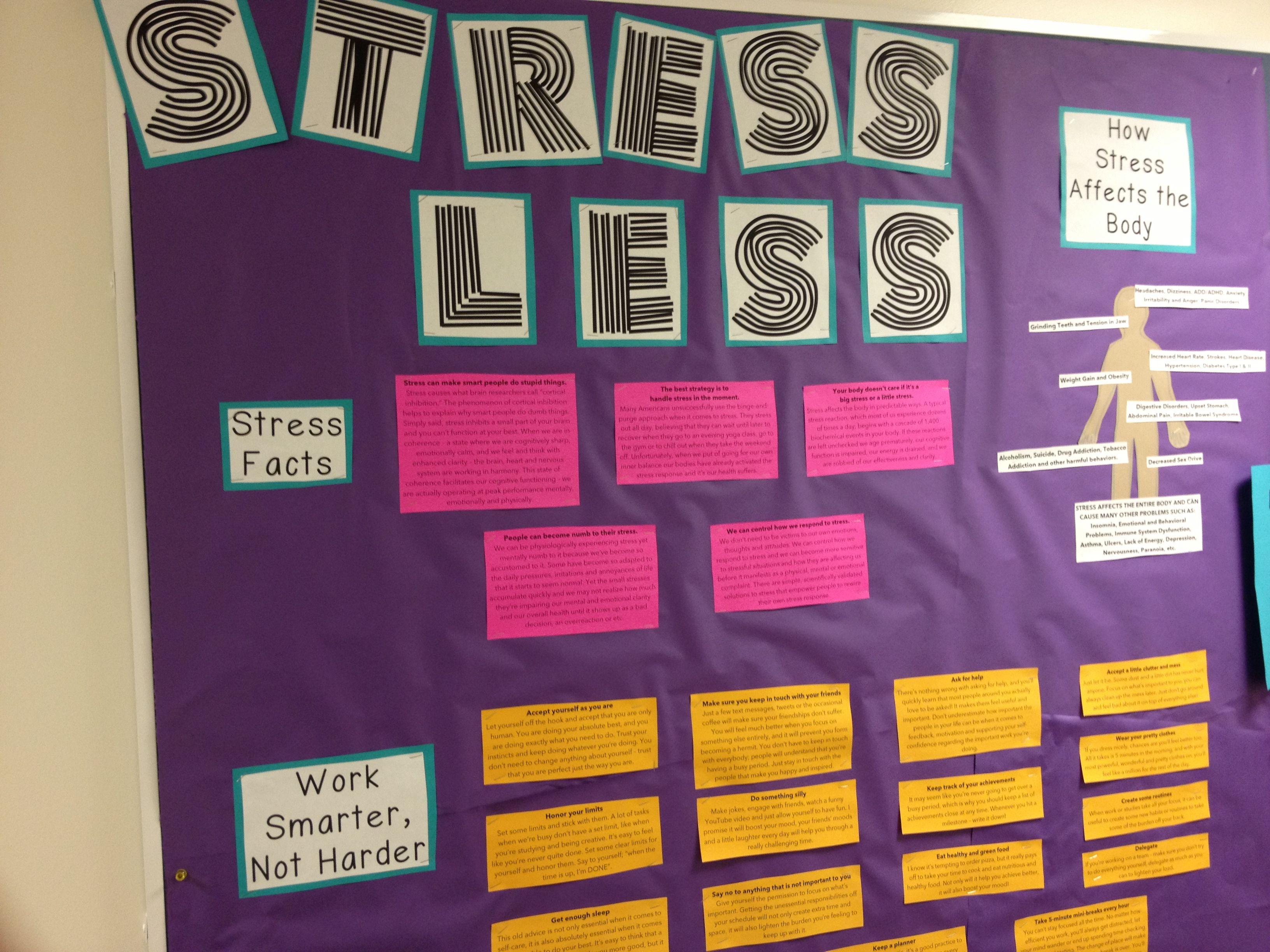 Stress Bulletin Board Health Bulletin Boards Health Fair Ra