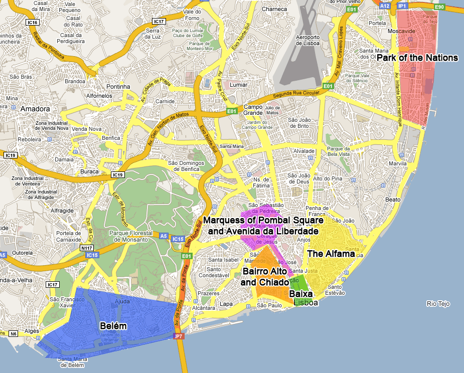 Lisbon Neighborhoods Districts Interesting Areas in Lisbon