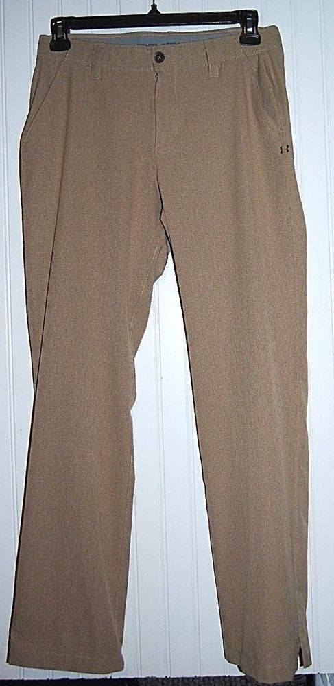 92f1ca05ad0 Under Armour Match Play Men's 34 x 32 Tan Loose Fit Vented Golf Pants  #UnderArmour
