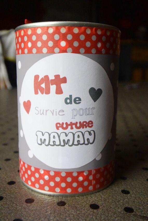 kit de survie pour future maman personalisable id e cadeau baby shower pinterest babies. Black Bedroom Furniture Sets. Home Design Ideas