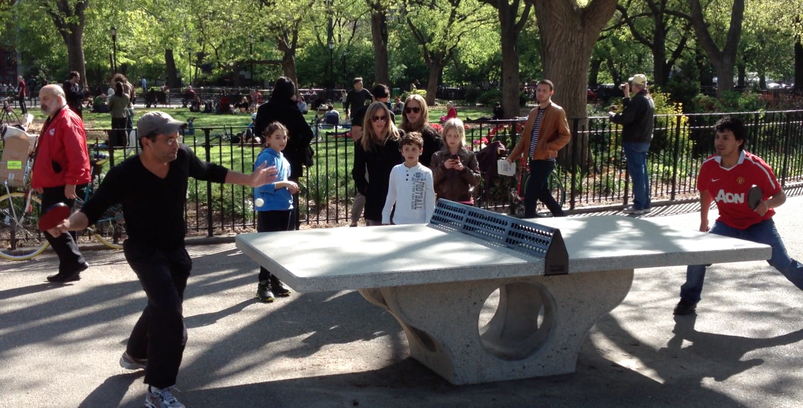 Sculptural Concrete Outdoor Table Tennis Platforms   HENGE Inc.