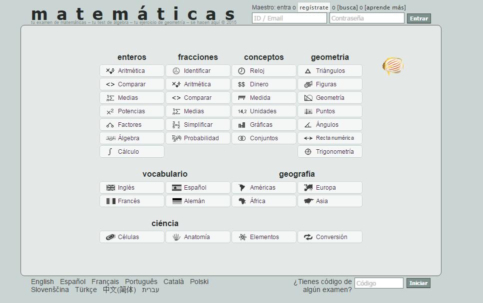 Sitio para crear ejercicios de matemáticas, geometría se puede ...