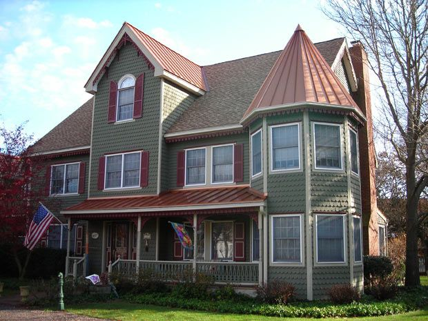 Best Copper Roof Olive Green Siding Curb Appeal Pinterest 400 x 300