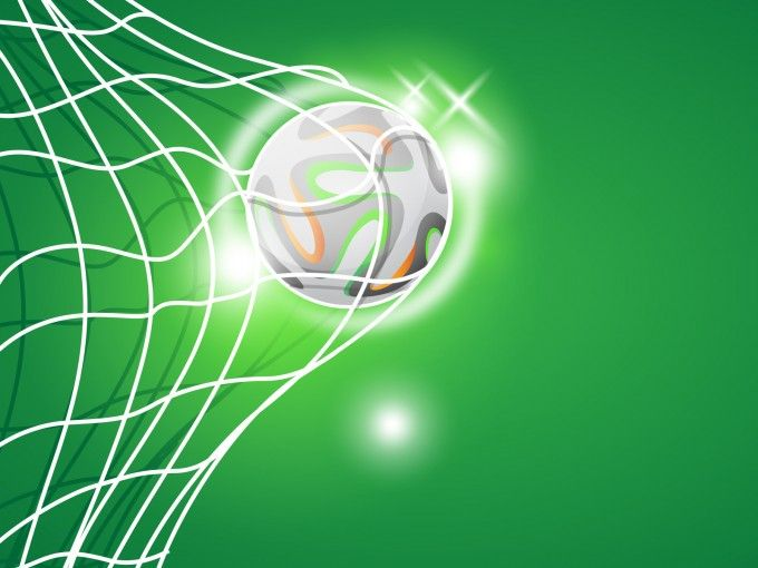 This free Football Goal Powerpoint template with football – Football Powerpoint Template