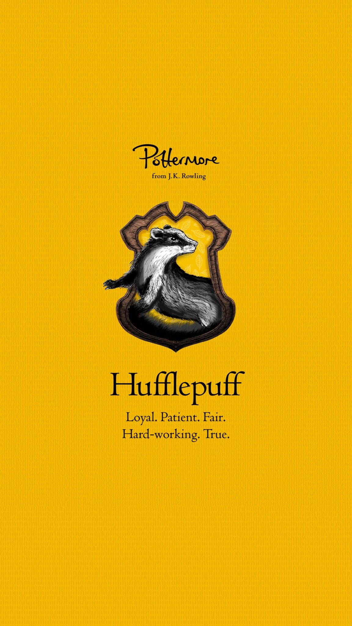iPhone Hufflepuff Pottermore Wallpaper Harry potter