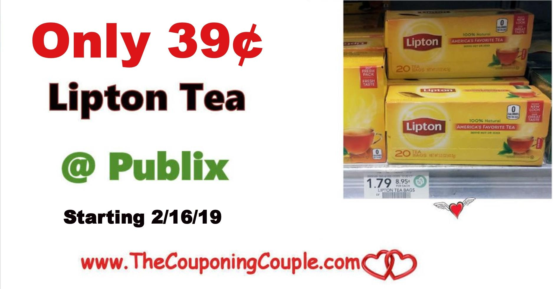 Lipton Tea Bags Only 0 39 Publix Starting 2 16 Lipton Tea Bags Lipton Best Tea
