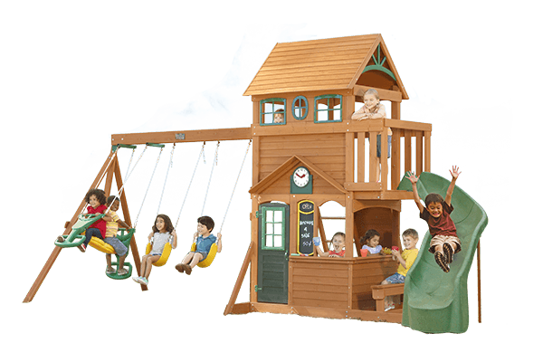 Ashberry II Cedar Playset by Big Backyard | Wooden swing ...