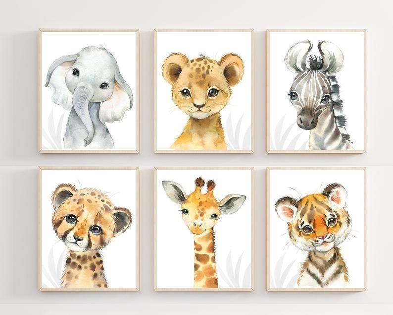 Nursery Print Nursery Art Safari Animals Animal Prints Baby Animal Prints Baby Room Artwork Baby Shower Gifts Z is for Zebra