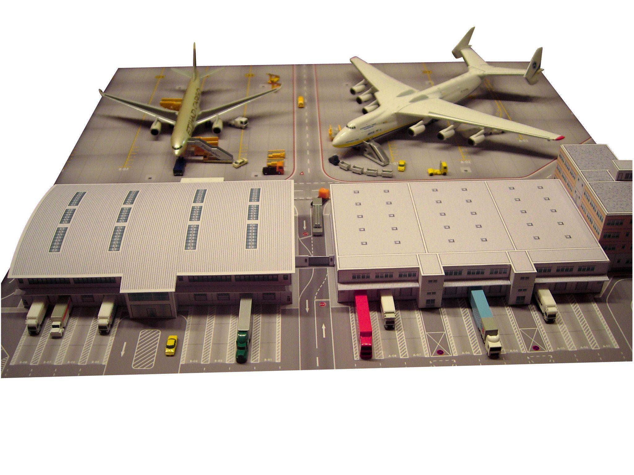 Airport Cargo Terminal Cardboard Model Cardboard Model Model Planes Airport