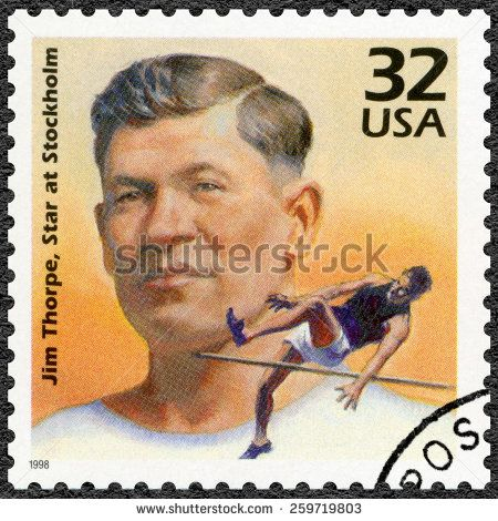 US Stamp - Celebrate the Century 1910s Jim Thorpe, Star at Stockholm