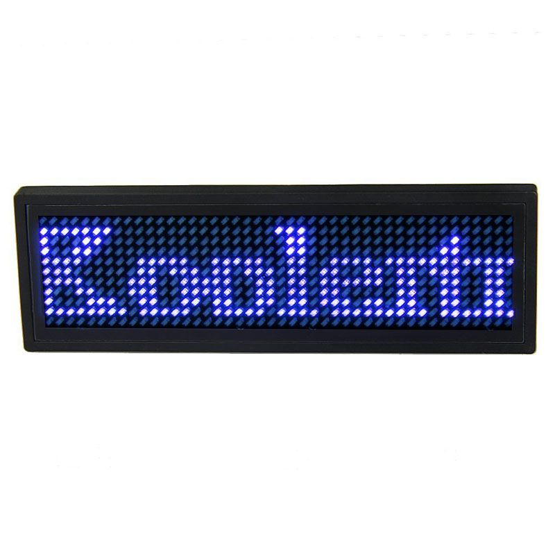 Usb Programmable Scrolling Blue Led Name Badge Mini Display Message Id Name Tag For Business Advertising Message Displ Digital Cool Things To Buy Led
