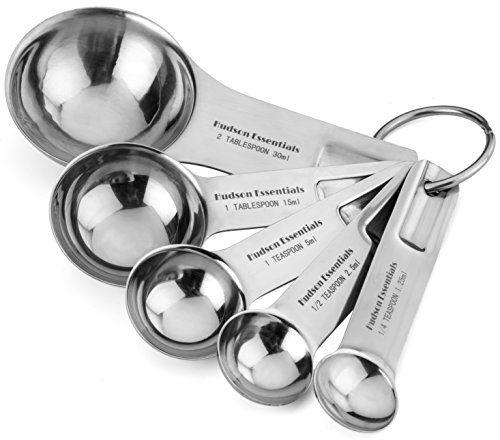 4 Pc Stainless Steel Measuring Spoon Teaspoon Set Scoop Baking Metric Tool New !